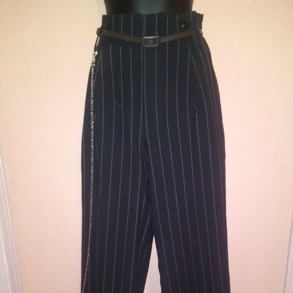 limited guantity outlet store fashion style High waist drop loop pin striped Zoot Suit pants